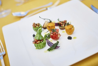 Dish created by Chef del Grand Hotel Residencia